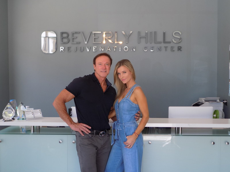Co-Founder of BHRC, Devin Haman with Joanna Krupa.