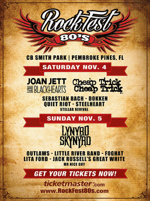 Leyendas del rock de los 80 electrizarán el escenario dos días seguidos en el Segundo RockFest 80's Anual