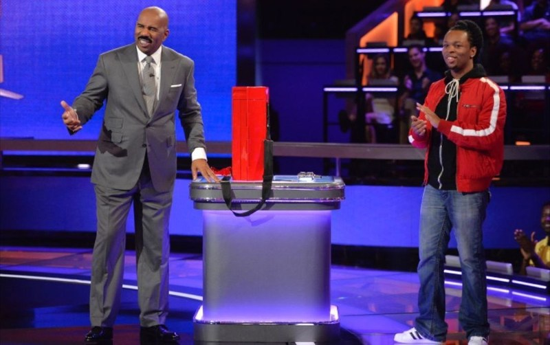 Brandyn Armstrong showing Studio Stick on Steve Harvey's Funderdome. Airing on September 24, 2017 on ABC at 9pm est