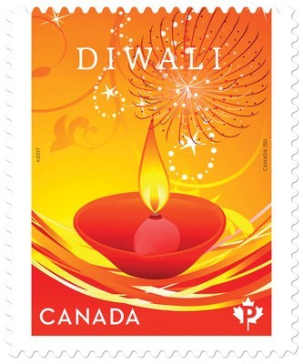Inde - Timbre Diwali (Groupe CNW/Postes Canada)