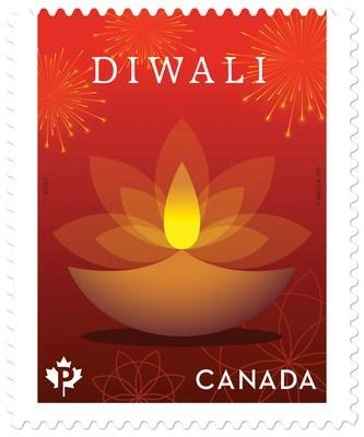Canada - Timbre Diwali (Groupe CNW/Postes Canada)