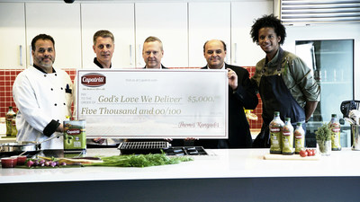 Capatriti Olive Oil Donates $5,000 to God's Love We Deliver through Successful #HonestOliveOil Campaign.