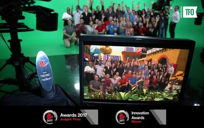 LUV's success at the 2017 IBC Awards was celebrated by a passionate, committed, innovation-focused team. (CNW Group/Groupe Média TFO)