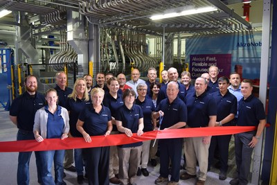 The ribbon was cut at AkzoNobel's coatings facility in Columbus, OH on a $2 million addition that will increase capacity and enable greater flexibility in meeting customer demands.
