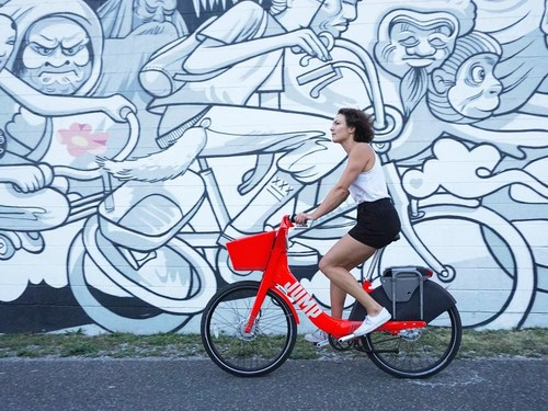 JUMP, the first dockless e-bikes for bike share hit the streets in DC on Monday.