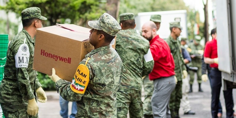 Honeywell donated $400,000 in personal protective equipment to the Mexico Secretaría de la Defensa Nacional to support rescue and relief efforts following this week's devastating earthquake in Mexico.