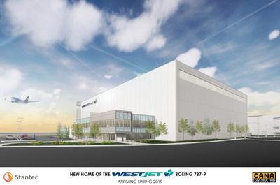 WestJet entreprend la construction d'un nouveau hangar à Calgary (Groupe CNW/WestJet)