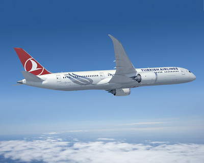A Boeing 787-9 in Turkish Airlines livery (PRNewsfoto/Boeing)