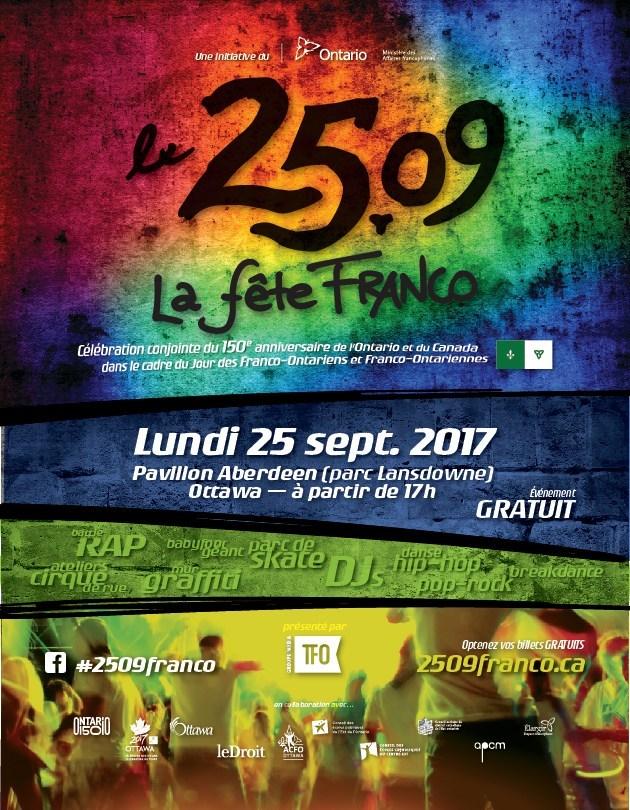 Affiche Le 2509, la fête franco (Groupe CNW/Groupe Média TFO)