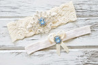 Launching on September 21, 2017 the Topaz Wedding Garter Collection Stylishly Combines Modern Elements With the Classic Inspiration of Early 20th Century Art Deco