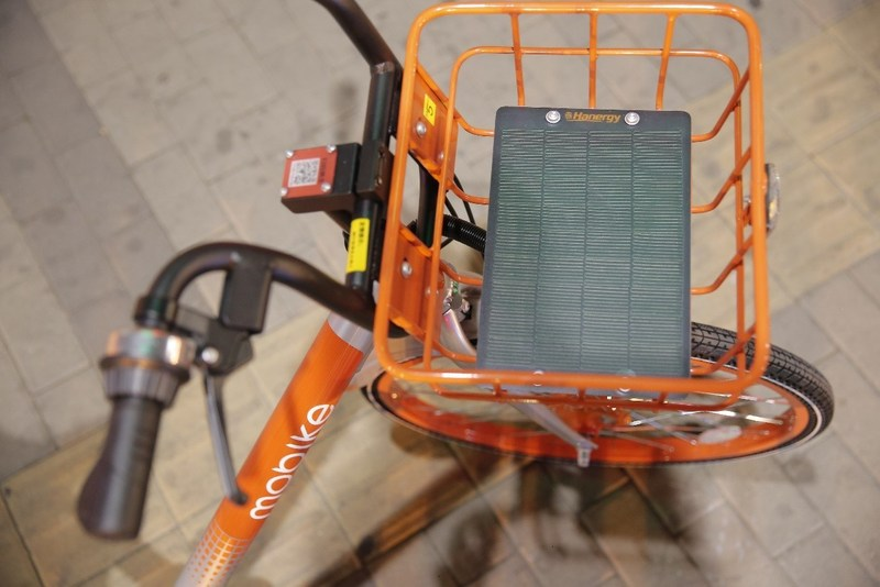 Hanergy's thin-film solar panels used in shared bicycles