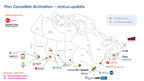 National Events Map (CNW Group/SingularityU Canada Summit)