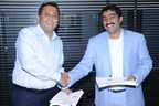 Jitu Virwani, CMD, Embassy and Ajay Prasad – Country Managing Director, India – Taurus Investment Holdings LLC at the signing of the 50:50 JV for to develop a landmark SEZ at Trivandrum (PRNewsfoto/Embassy Property Developments Pr)