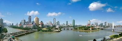 Vista de la ciudad de Ningbó (PRNewsfoto/Information office of Ningbo Mu)