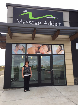 Cora Hasna RMT and Franchise Owner of Massage Addict Red Deer Timberlands (CNW Group/Massage Addict)