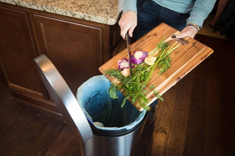 Residents source separate their organics in their home