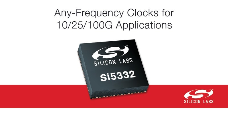 New Si5332 any-frequency clocks from Silicon Labs simplify timing for 10/25/100G applications.