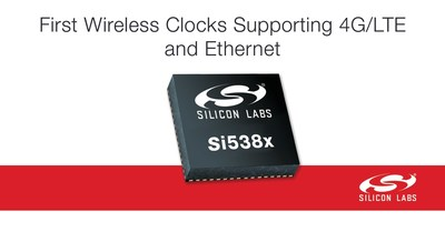 Silicon Labs' Si538x family features the industry's first wireless clocks supporting 4G/LTE and Ethernet applications.