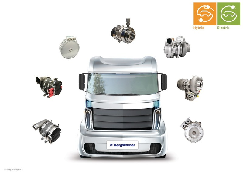 As a global leader in clean and efficient technology solutions for combustion, hybrid and electric vehicles, BorgWarner offers the growing hybrid and electric commercial vehicle market a broad product portfolio to help meet emissions regulations and fuel economy goals.