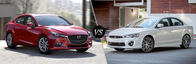 Mazda of Lodi has created a new comparison webpage to show shoppers the differences between similar models. This tool compares features of the 2017 Mazda3 and the 2017 Mitsubishi Lancer to show which model has the most to offer.