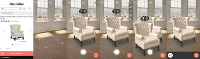 Envisioned by The Mine allows users to view digital products from The Mine, a premier online destination for luxury home furnishings and Lowe's Company, at scale, in their own space, leveraging new augmented reality capabilities Apple introduced with ARKit.
