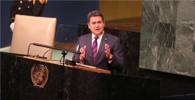 """Honduran President Calls Migrants """"Martyrs, Heroes"""" in U.N. Speech"""