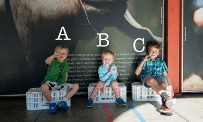 """3 Deaf kids showing sign language for the """"A, B, C's"""""""