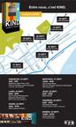 Carte des emplacements de la machine KINDness du 24 au 30 septembre. (Groupe CNW/KIND)