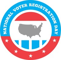 National Voter Registration Day is celebrated the 4th Tuesday of every September. This year, that's Tuesday, September 26th.