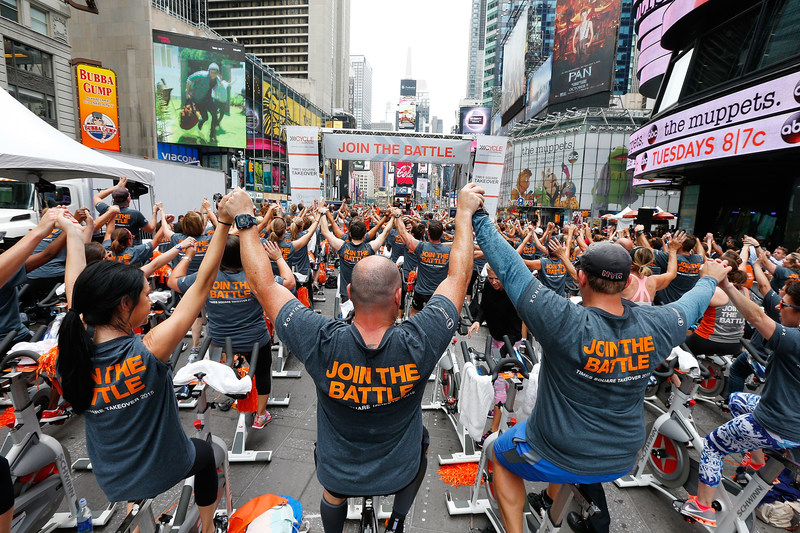 The Cycle for Survival community will ride in Times Square to raise awareness about the fight to beat rare cancers. 100 percent of funds raised by Cycle for Survival go directly to groundbreaking rare cancer research and clinical trials led by Memorial Sloan Kettering Cancer Center.