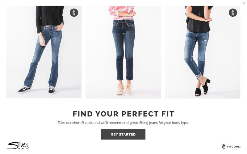 A personalized, fit-focused shopping experience, enabled by Fitcode, launched today on silverjeans.com. The integration allows women to shop personalized style recommendations for their unique body types, while helping the denim brand drive sales and engagement.
