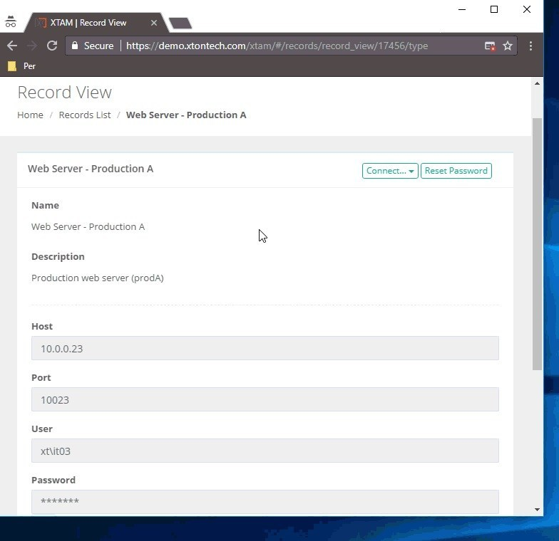 Create Secure Remote Sessions with Recording and Password Reset