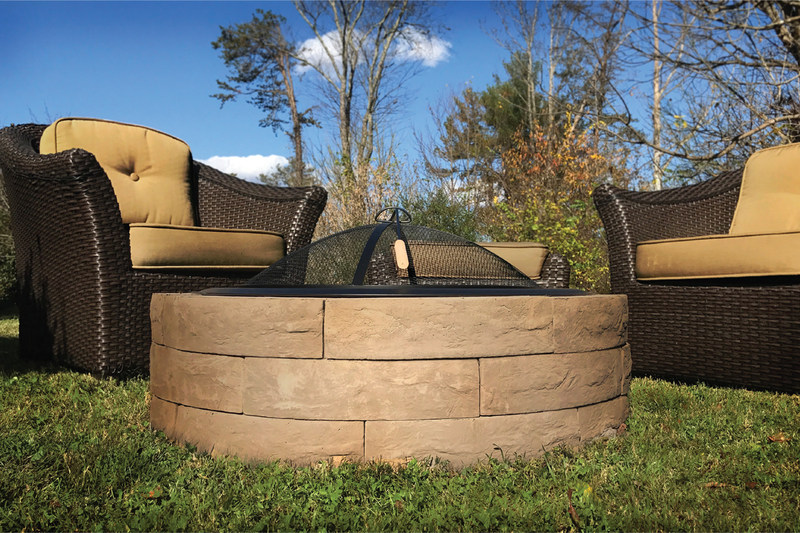 "Outdoor Distinctions LLC, launches the new 42"" Acadia Lightweight Fire Pit Kit"