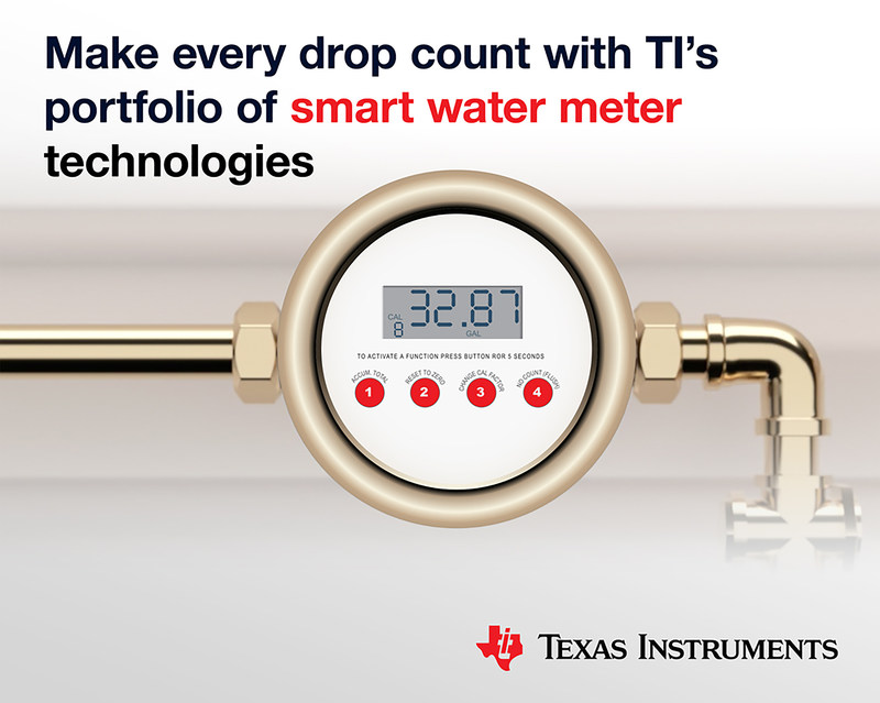 New ultrasonic MCUs and new reference designs make both electronic and mechanical water meters smarter
