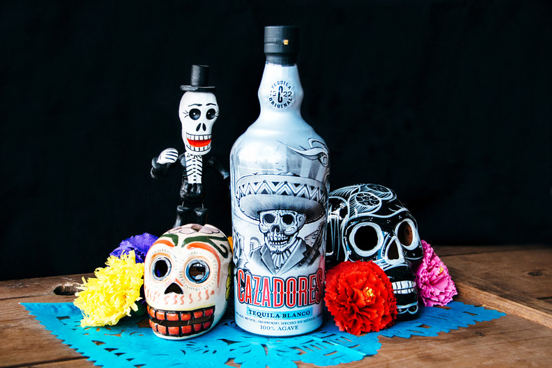 Legendary artist Mister Cartoon designs limited-edition Dia de los Muertos bottle and set of skull bandanas for Tequila CAZADORES