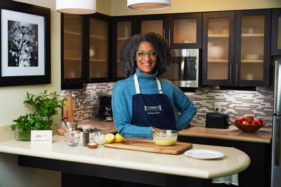 Staybridge Suites announces its culinary collaboration with Chef Carla Hall, co-host on ABC's The Chew. Carla has created five simple, yet delicious recipes that are easy to prepare when staying at a Staybridge Suites hotel.