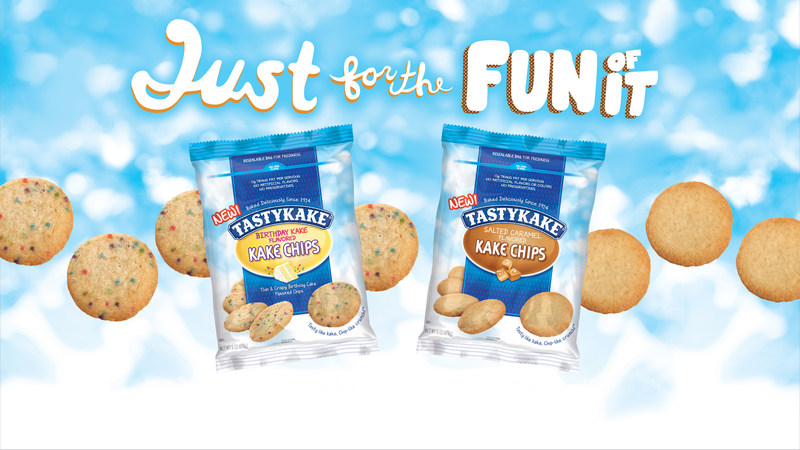Tastykake introduces Kake Chips, a new product that combines the crunch of a chip with the sweetness of cake.