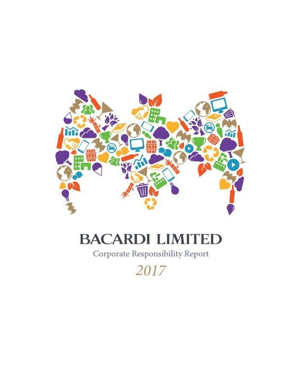 Cover of Bacardi Limited FY17 Corporate Responsibility (CR) Report.