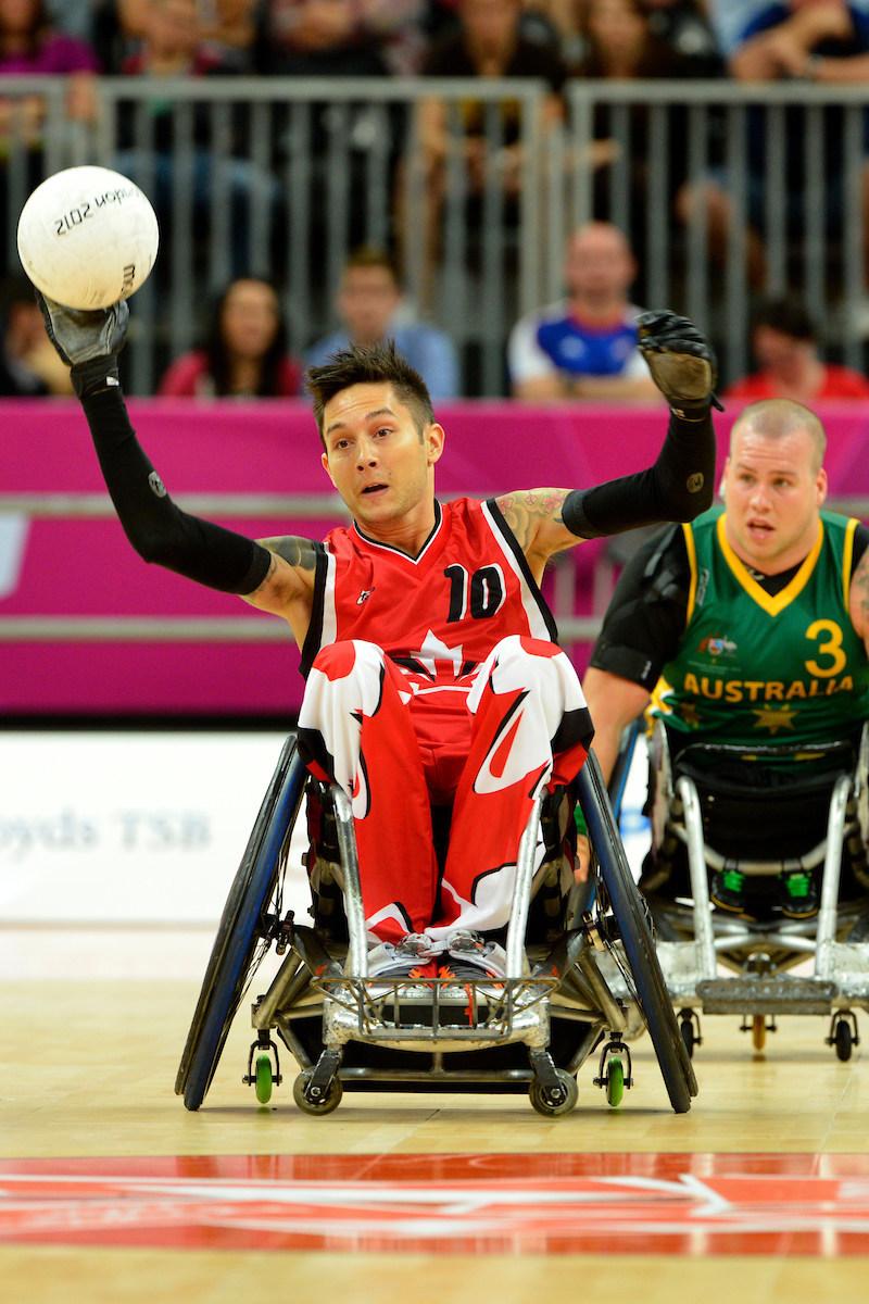 Trevor Hirschfield, trois fois paralympien en rugby fauteuil roulant (Londres 2012 médaillé d'argent, Beijing 2008 médaillé de bronze) assistera à PARALYMPIENS RECHERCHÉS Vancouver. (Groupe CNW/Comité paralympique canadien (CPC))