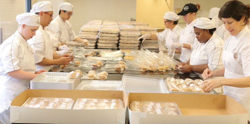 A small act can make a big difference. The French Pastry School in Chicago baked day/night making 60,000 cookies that traveled 2,400 miles to be personally delivered to those stranded in shelters as a result of Hurricanes Harvey and Irma.