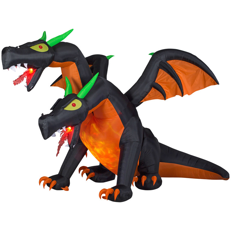 Gemmy Animated Inflatable 2-Headed Dragon