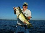 Captain Steve Niemoeller with Largemouth Bass caught on the original SteelShad.