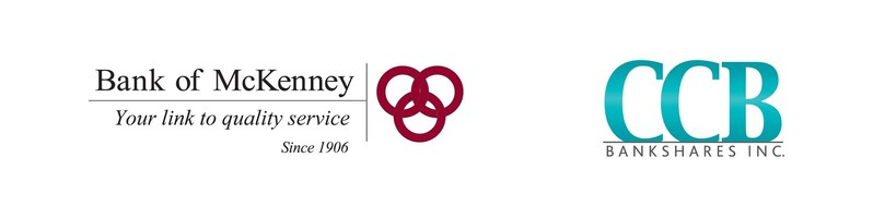 Bank of McKenney and CCB Bankshares, Inc.