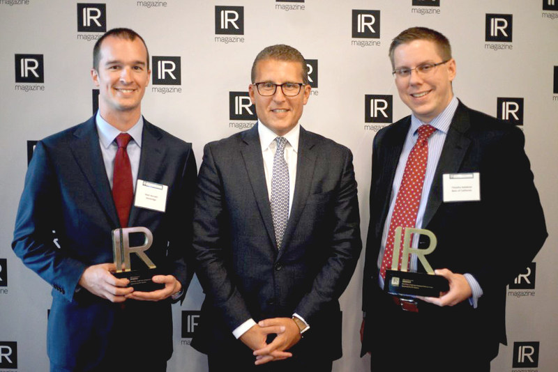 From left to right: Matt Horvath, Director, Investor Relations and M&A, Stoneridge; Jason Paltrowitz, Executive Vice President, Corporate Services, OTC Markets; Tim Sedabres, SVP, Corporate Strategy, Head of IR, Finance, Banc of California.