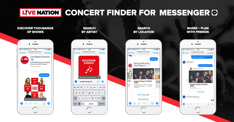 Live Nation's New Bot For Messenger Promotes Concert Discovery Among Friends