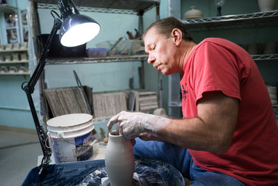 Mark Hudak, a studio potter for over 30 years, is among the dozens of artists celebrating Tacoma Arts Month. From pottery to poetry and bluegrass to ballroom dance, the annual arts festival offers activities nearly every day of October. Tacoma's also proud of its year-round public art, sometimes in unexpected places.