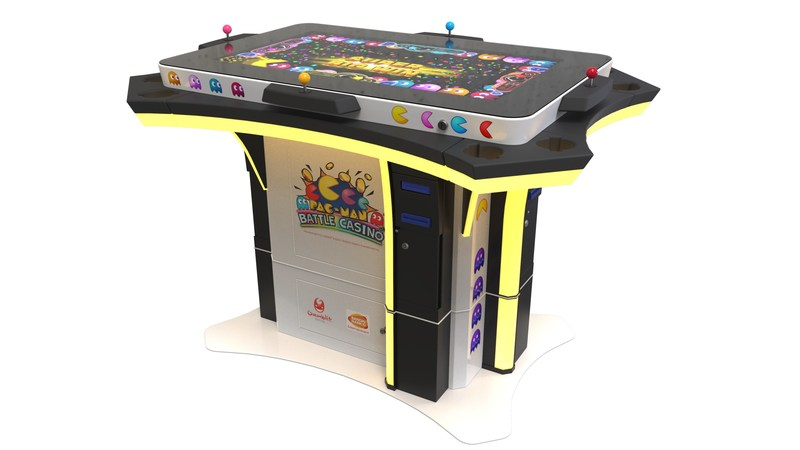 PAC-MAN Battle Casino custom designed as a competitive multiplayer wagering game on the Gamblit Gaming Model G(tm) interactive tables