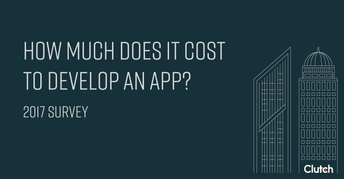 How much does it cost to develop an app? 2017 Survey
