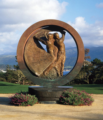 Momentum, a 15-foot high heroic bronze monument created by artist Richard MacDonald, commemorates the 100th U.S. Open Golf Championship and celebrates the greatest athletes of this century and the next.