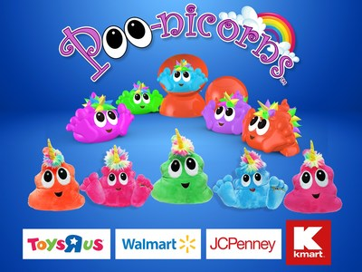 Poo-nicorns available in stores nationwide. Follow @Poonicornicopia for details! (CNW Group/Fun2Play Toys)